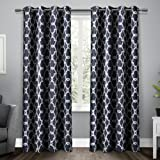 108 curtain panels pair - Exclusive Home Curtains Gates Sateen Blackout Thermal Grommet Top Window Curtain Panel Pair, Peacoat Blue, 52x108