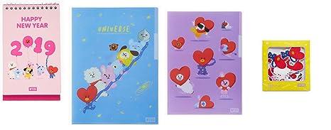 Amazon.com : BTS BT21 Official Merchandise 2019 Calendar + ...