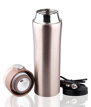 Kangsur Coche Hervidor ElÉCtrico Calentador De Agua Copa De EbulliciÓN Botella De Encendedor De Cigarrillos con