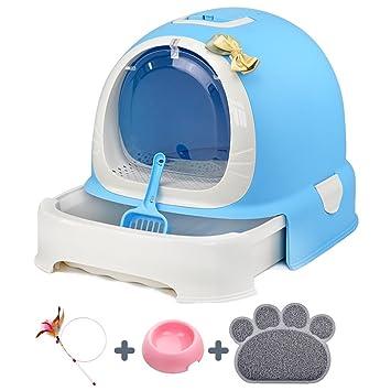 Xiao Mi Guo Ji Baño para mascotas: bandeja para gatos, baño para gatos, totalmente cerrado, ...