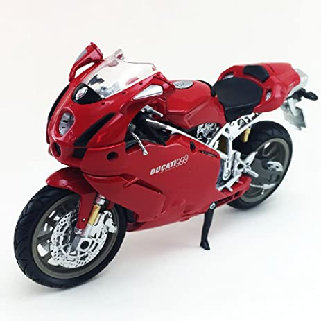 Charmant Ducati 999 New Ray 1:12 Scale Die Cast Toy Collection Motorcycle Model  Collectible