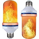 Flame Light Bulbs, FIMITECH LED Flame Effect Fire Light Bulbs, 4 Modes, E26 Standard Base, 108pcs LED Flame Light, Atmosphere Lighting, Decorative Light for Halloween,Christmas (2 Pack)