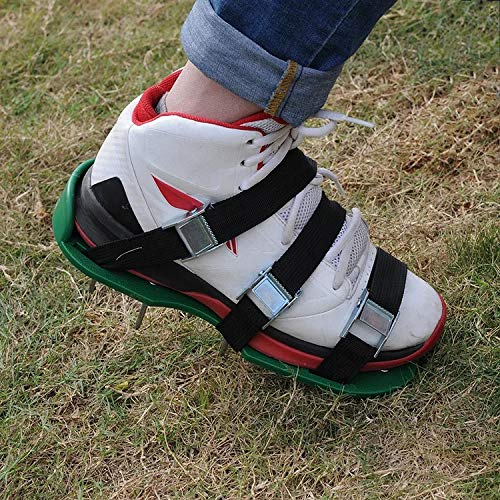 G-BAR Loose Soil Garden Aerator 3 Adjustable Shoulder Straps Universal Size, Lawn Sandals, 26 Nails for Inflating The Lawn and Yard, Lawn Spikes Lawn Aerator Shoes by G-BAR