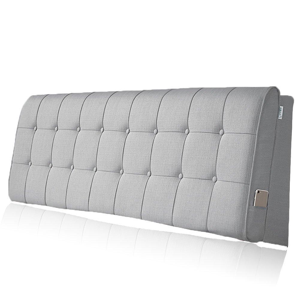 LIANGLIANG クッションベッドの背もたれ ダブルサイズの人は余分な通気性と汗を吸収する綿、5サイズ13色 (色 : Gray, サイズ さいず : 150x60x10cm) B07FRFTXSR 150x60x10cm Gray Gray 150x60x10cm