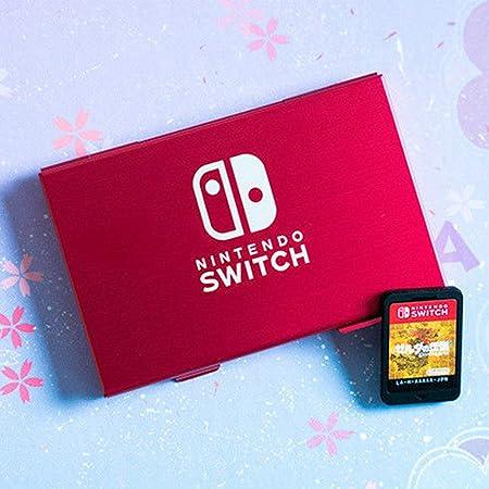 DERCLIVE Nintendo Switch Caja de Almacenamiento de Cartucho de Tarjeta de Juego de Metal de Aluminio de 6 Ranuras Rojo: Amazon.es: Electrónica