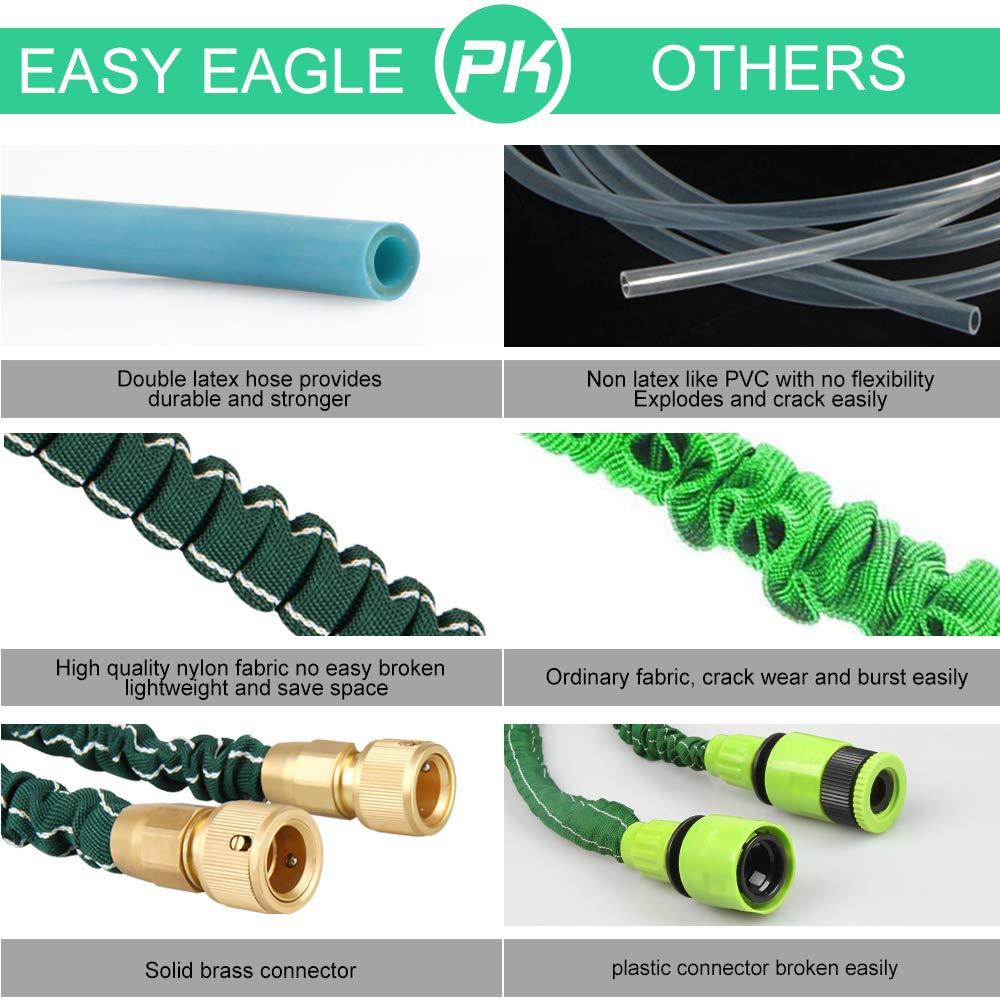 Easy Eagle Gartenschl/äuche Flexibel Wasserschlauch ausdehnbar bis 15M Dehnbar Erweiterbar Bew/ässerung Stretch Schlauch mit 8 Arten Brause