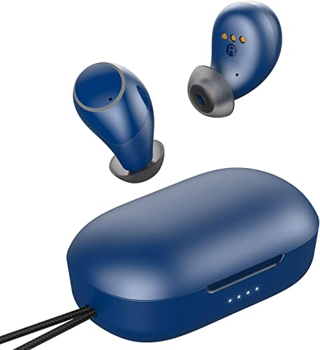 Wireless Earbuds, Aufo Bluetooth Headphones Bluetooth 5.0 Lightweight Earphones in-Ear HiFi Stereo, Touch Control, IPX7 Waterproof, One-Step Pairing, Built-in Mic,Navy Blue