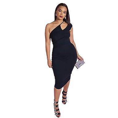 be04822375 Women s Formal Club   Night Out Asymmetrical Neckline Bodycon Midi Dress - Plus  Sizes