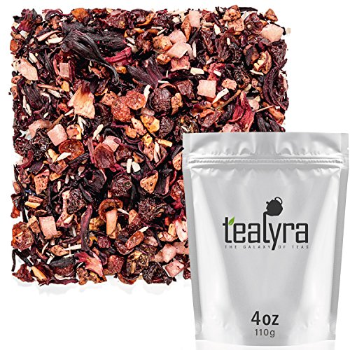 Tealyra - Piña Colada Cocktail Tea - Coconut Hibiscus Fruit Tea - Herbal and Fruity Loose Leaf Tea - Caffeine-Free - Hot & Iced Tea - Vitamines Rich - Healthy - All Natural - 110g (4-ounce)