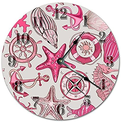 Amazon.com: Funny Wall Clocks Decorative for Living Room Pink ...