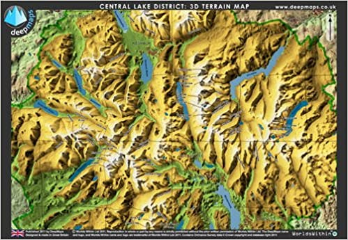 Deepmaps Central Lake District D Terrain Map Amazoncouk - Terrain map uk