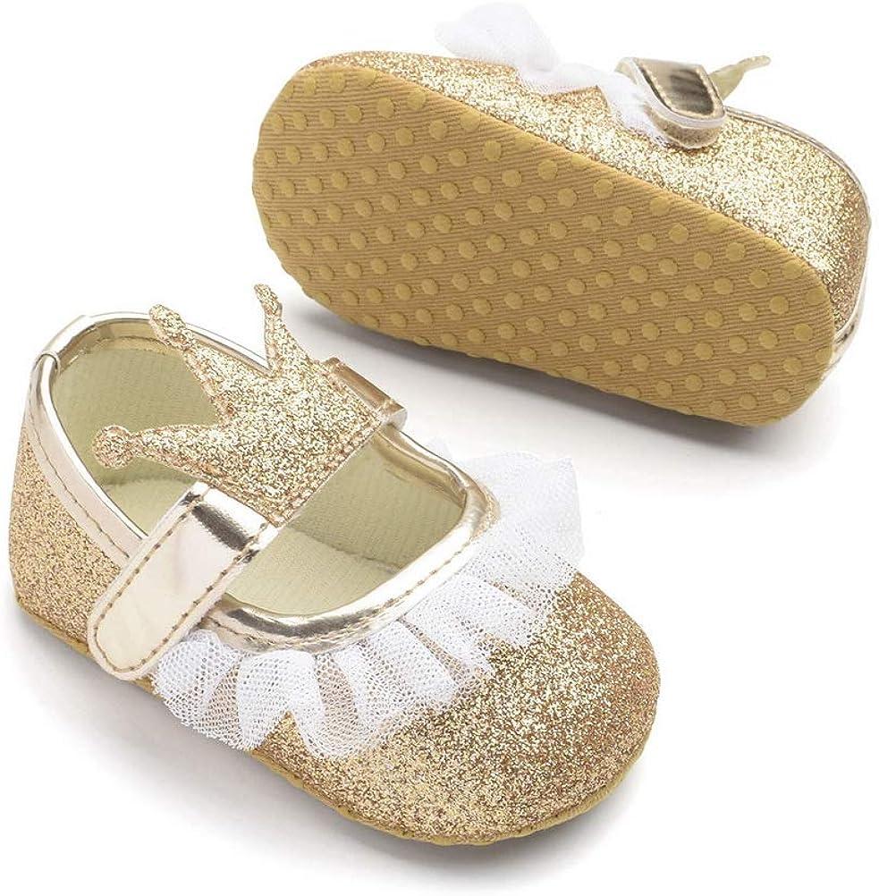 ARAUS Princesse Chaussure Bateau B/éb/é Fille Chaussure Premier Pas Mocassin Souple 10-13cm