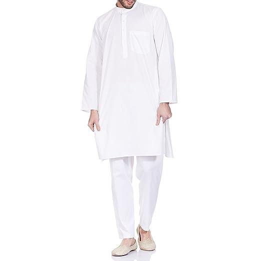 755ec3ea3f Amazon.com  Mens Yoga Clothes Cotton Kurta Pyjama Chest  40 inches  Clothing