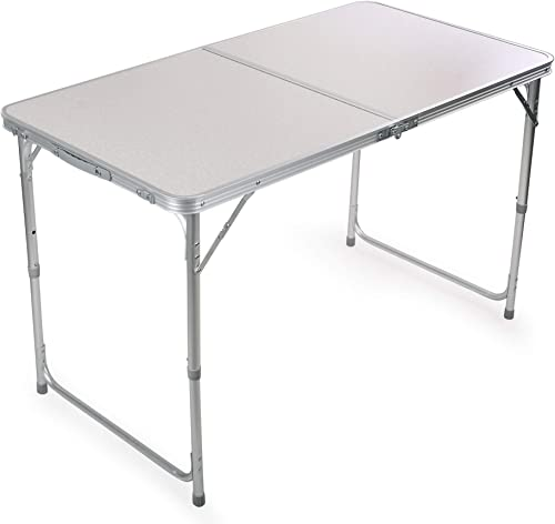 Portable Height Adjustable Aluminum Folding Camping Table with Carry Handle FT-ACFT1