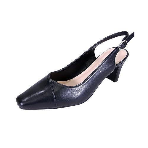 bd7e96a3b5d44 Peerage Taryn Women Wide Width Slingback Comfort Mid Heel Dress Shoes for  Wedding, Prom, Evening, Work
