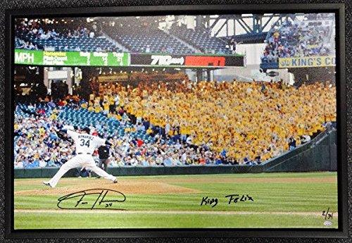 Felix Hernandez Autographed Signed Framed 20x30 Canvas Photo Mariners Mcs 94466 Autographed MLB Art