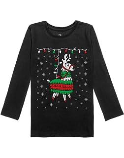 81fa4212561d Amazon.com  Christmas FA LA Llama Toddler Long Sleeve T Shirt  Clothing
