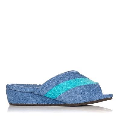 Damen Hausschuhe, blau - blau - Größe: 36 Vanity