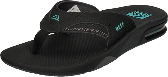 REEF MENS FLIP FLOPS.FANNING LOW GREY ARCH SUPPORT THONGS SANDALS SHOES 8W 3 OR