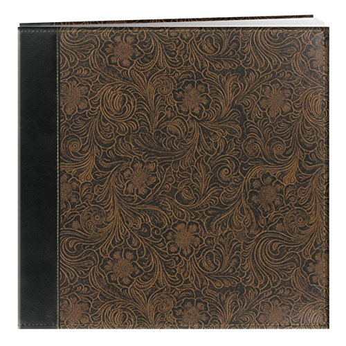 Pioneer 12 Inch by 12 Inch Postbound Embossed Sewn Leatherette Cover Memory Book
