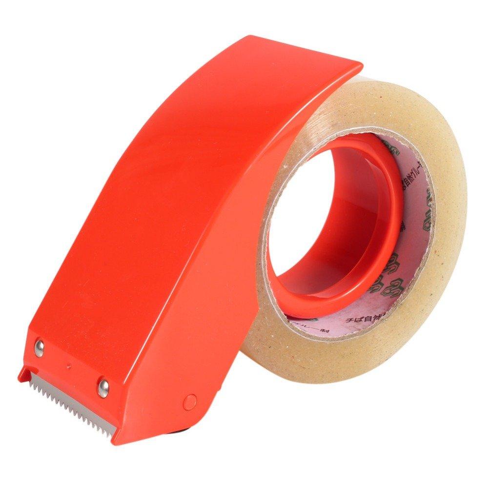48mm 2'' Hand Tape Dispenser Packing Packaging Boxes Roll Roller Cutter Orange Color