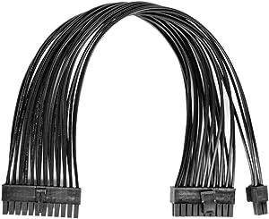 GinTai ATX 24Pin to 20+4Pin Power Supply Cable PSU 20 Pin Male Convert to 24 Pin