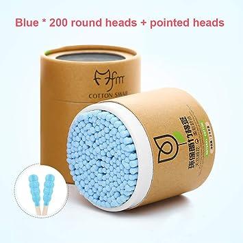DishyKooker 200 piezas desechables de bambú algodón bastones de madera bastones de bastoncillos de algodón suave Ear Swabs herramienta de limpieza – para BeautyMisc: Amazon.es: Belleza