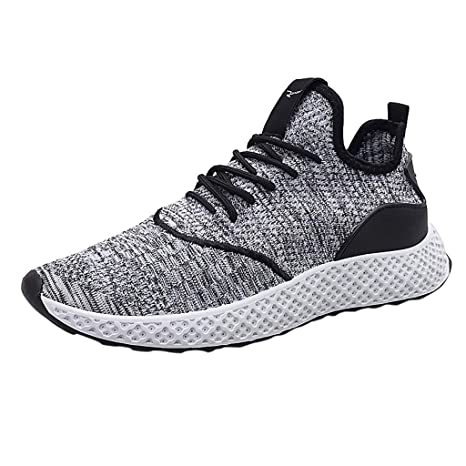 aef20eafe7128 Amazon.com: Men Lace Up Sneakers,Mosunx Athletic Students Breathable ...