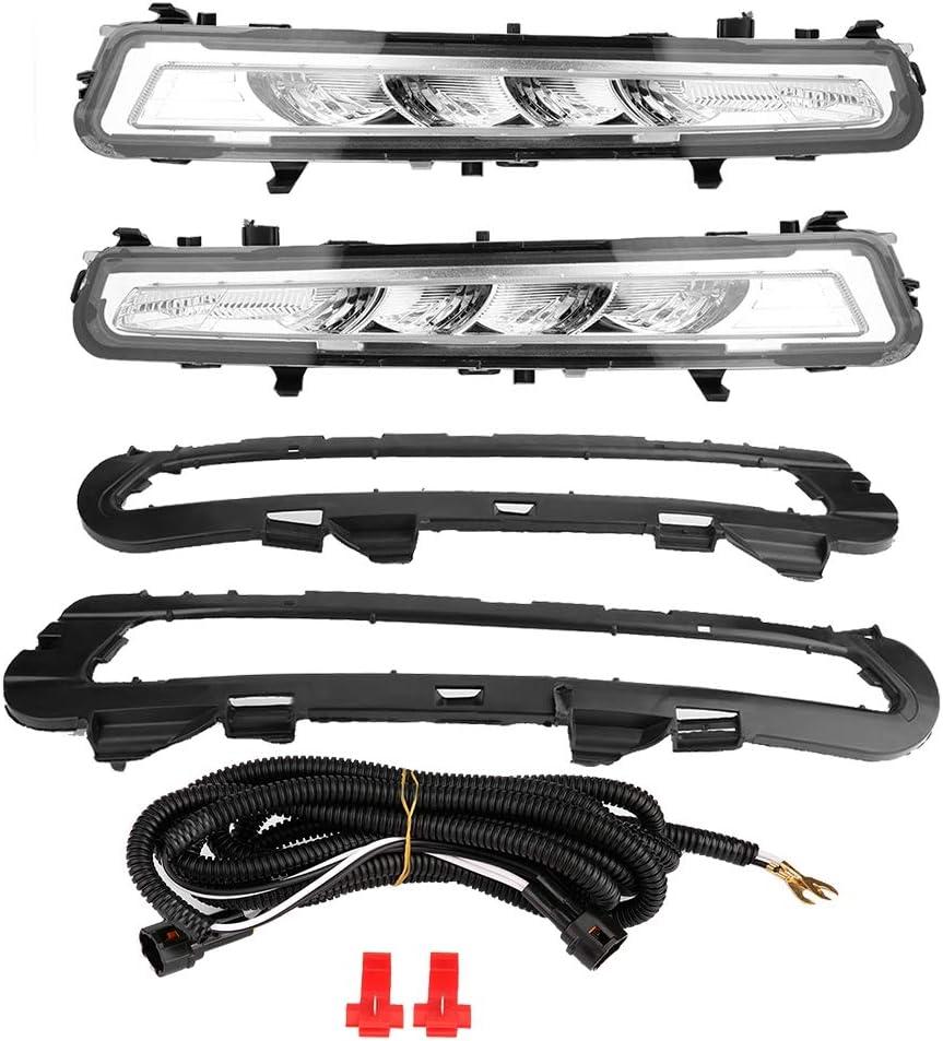 l/ámpara antiniebla DRL 1 par de luz diurna para autom/óvil DRL L/ámpara antiniebla LED diurna para Ford Mondeo 11-12 Luz diurna LED