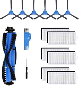 LIYONG eufy RoboVac Replacement Kit Replacement Parts Compatible eufy RoboVac 11S RoboVac 30 RoboVac 30C RoboVac 35C RoboVac 15C RoboVac 12 RoboVac 15T (6 Filters + 6 Side Brushes + 1 Rolling Brush)