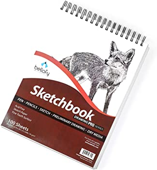 Bellofy Sketching Non-Acid Paper For Prismacolor Pencils