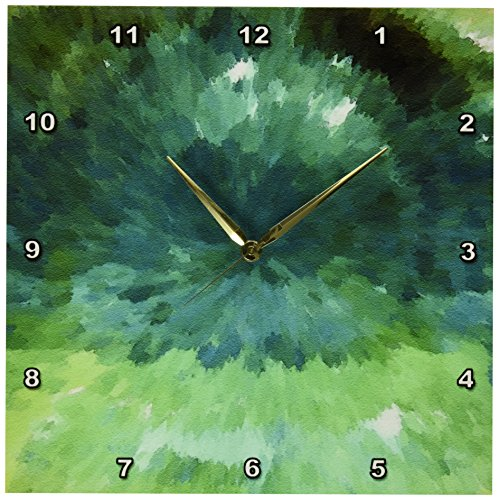 3dRose DPP_17748_2 Ocean Breeze-Wall Clock, 13 by 13-Inch