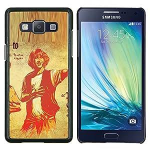 """Be-Star Único Patrón Plástico Duro Fundas Cover Cubre Hard Case Cover Para Samsung Galaxy A5 / SM-A500 ( Hombre Retrato de dibujo del arte retro del cartel"""" )"""