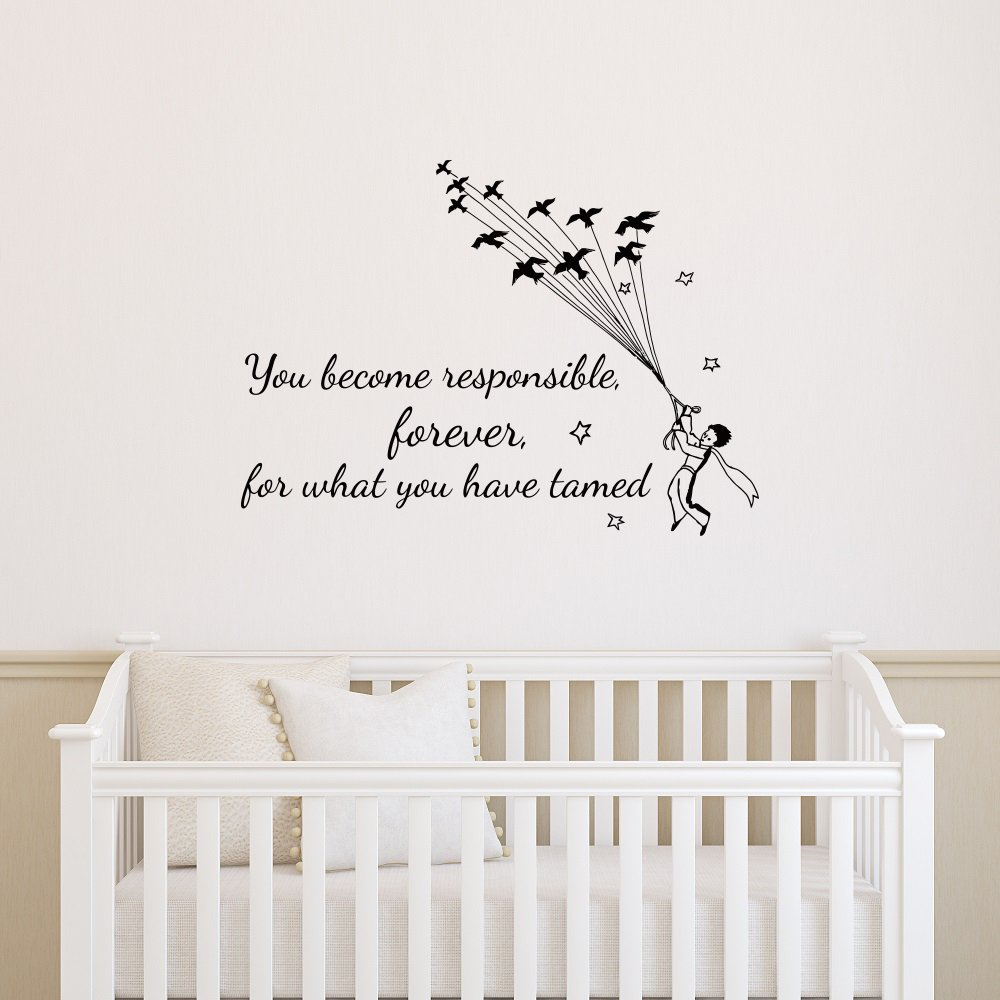 Amazon Wall Decal Quotes Little Prince You Become Responsible
