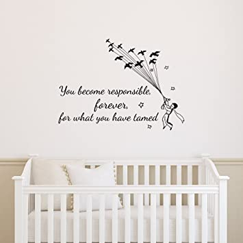 Amazon.Com: Wall Decal Quotes Little Prince You Become Responsible