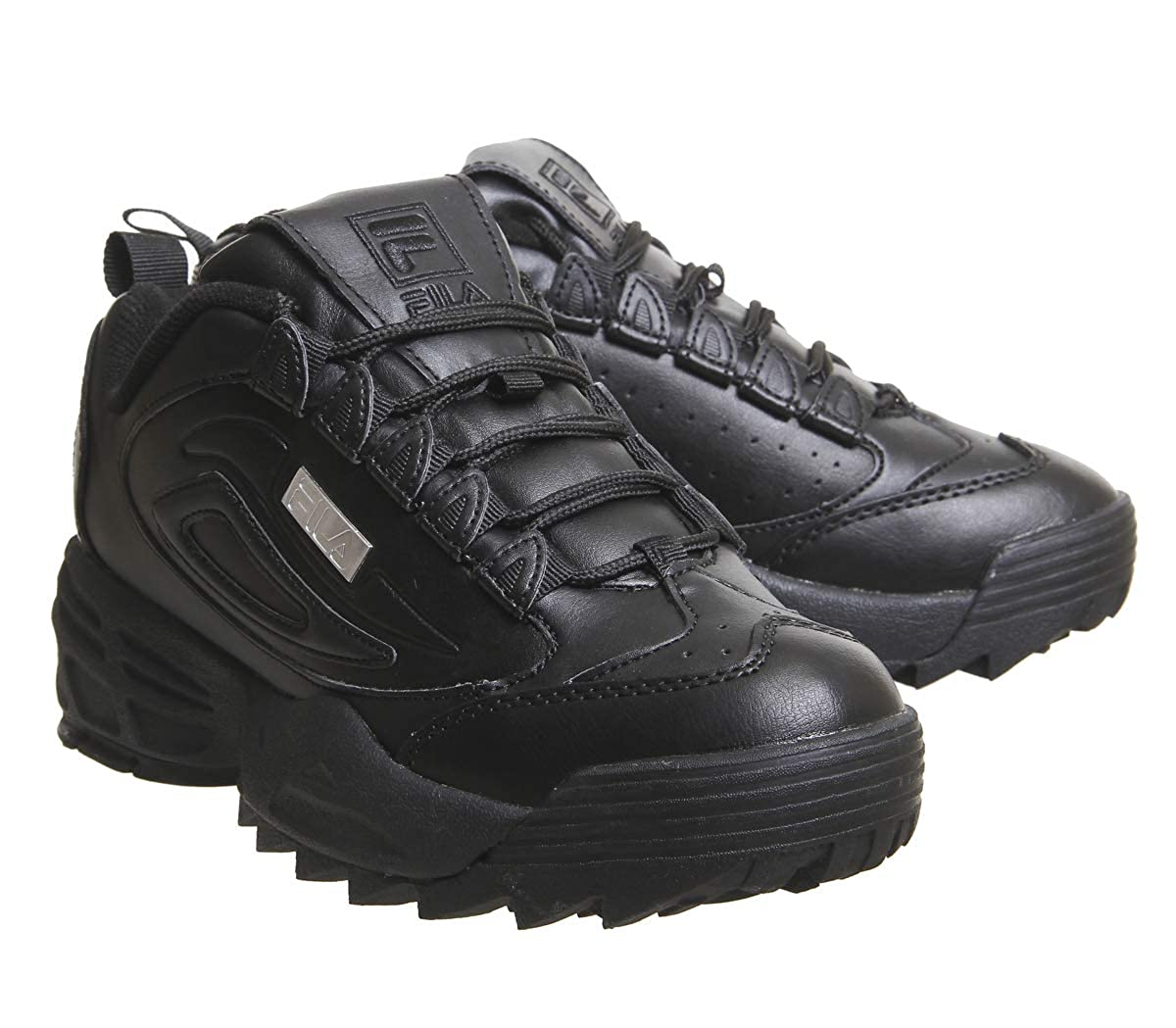 6 Fila Disruptor Unisex Uk Black 3 Baskets Silver oerBxWdC