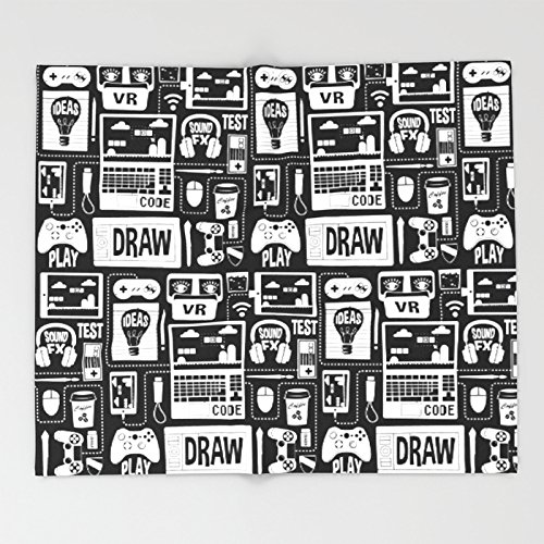 Society6 It's a Game Dev World Throw Blankets 88'' x 104'' Blanket
