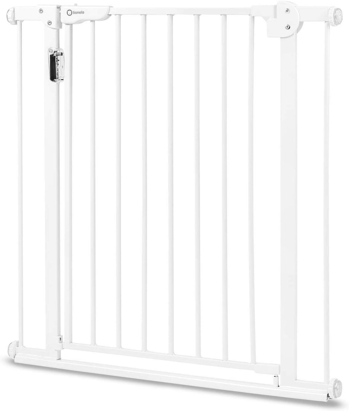 Lionelo LO-TRUUS SLIM White Truus Slim Grille de protection de porte pour b/éb/é 75 /à 105 cm Blanc 5 kg