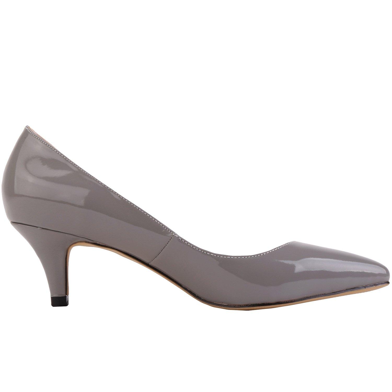 MEI&S Frauen Spitzen Zehe flachen Mund Prom Stiletto High Heels Heels High Hochzeit Pumps Pumpen Grau a43e7e