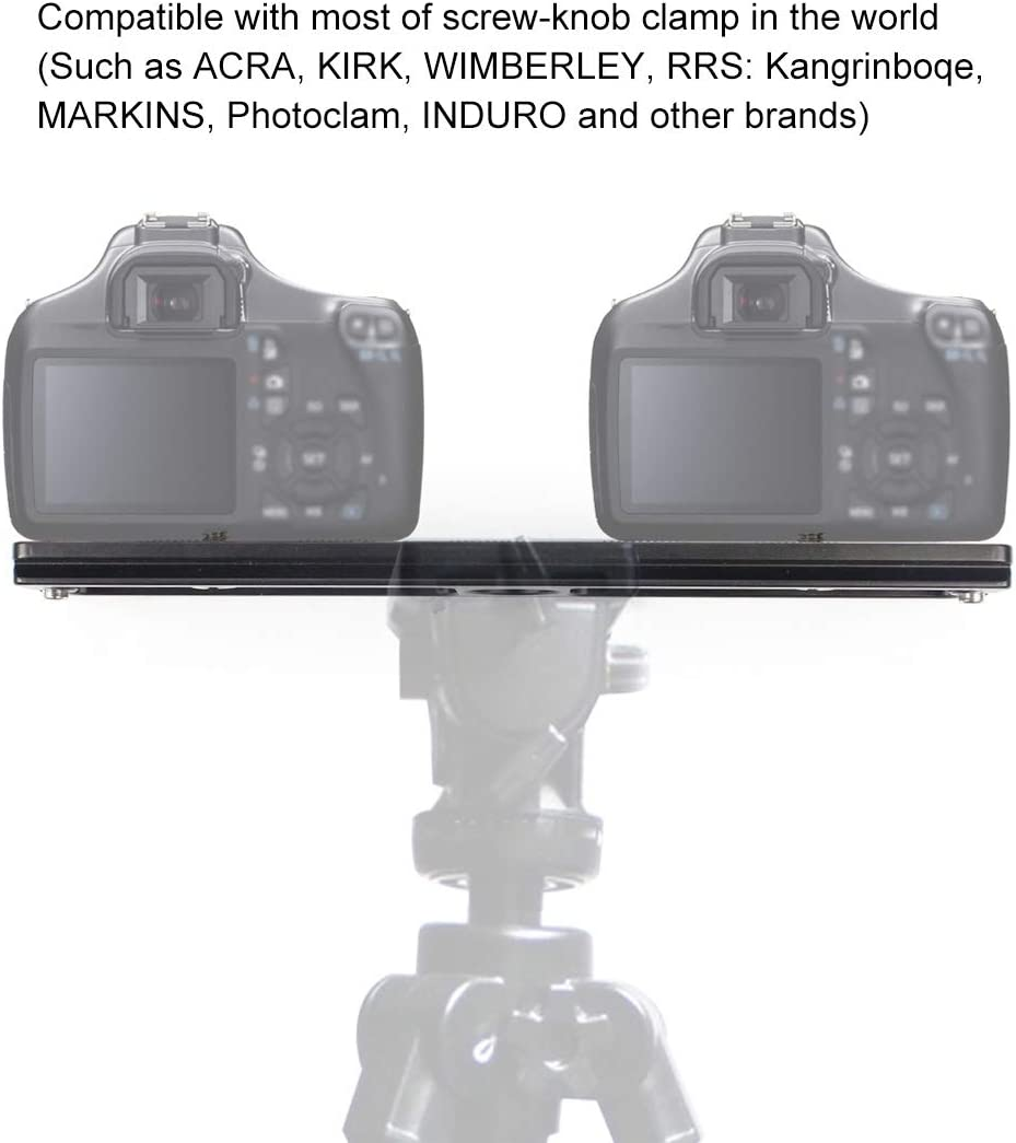 XIAOMIN 200mm Length PU-200 Aluminum-Magnesium Alloy Quick Release Plate QR Clamp for Benro B3 //J2 //J3 Tripod Ball Head Premium Material