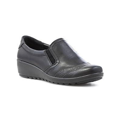 Black softlites Ladies Shoes Size 4