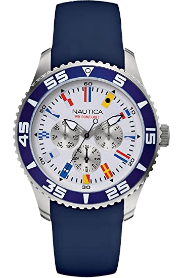 Nautica Multi Flag Box Set NAI13502G  Amazon.es  Relojes 402e71ba2183
