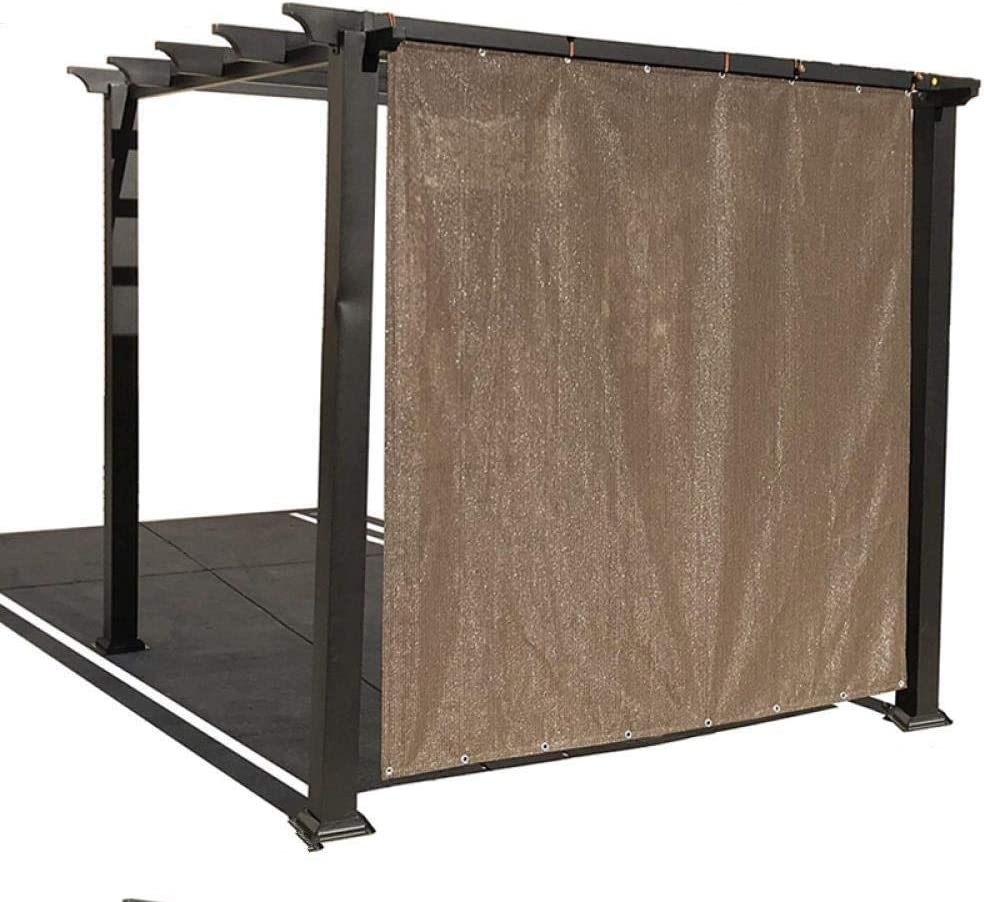 QingJu Tela De Sombra 80% Bloqueador Solar para Patio/Plantas de jardín/Terraza/Coches Malla Red Respirable con Ojales Malla Sombra, Color café, 1mX1.8m: Amazon.es: Jardín