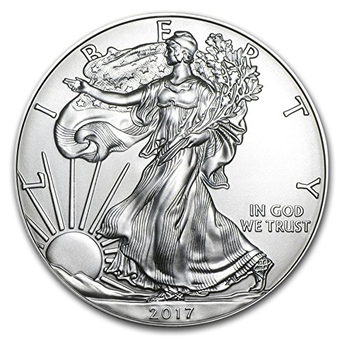 2017 - 1 Ounce American Silver Eagle Low Flat Rate Shipping .999 Fine Silver Dollar Uncirculated Us Mint