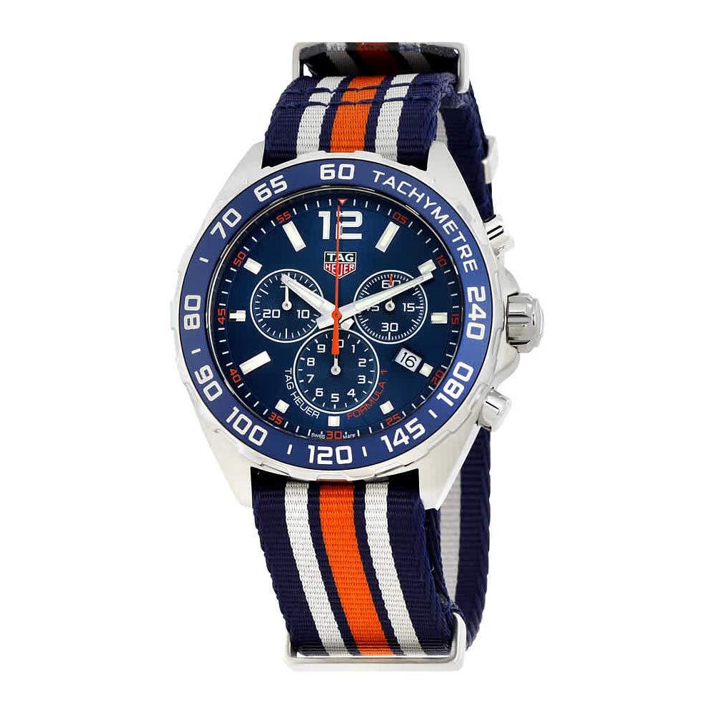 aa5a50b1d94 Amazon.com: Tag Heuer Formula 1 Blue Chronograph Mens Watch CAZ1014.FC8196:  Watches