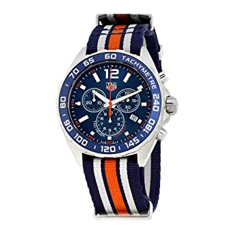 90236ab6bd3 Image Unavailable. Image not available for. Color  Tag Heuer Formula 1 Blue  Chronograph Mens Watch CAZ1014.