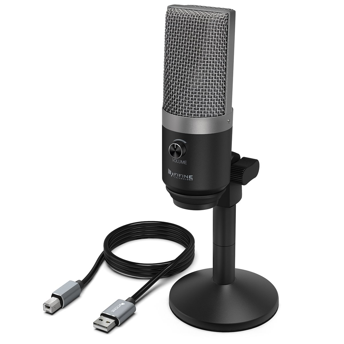 Usb Microphone,Fifine Pc Microphone For Mac And Windows Computers,Optimized For Recording,Streaming Twitch,Voice Overs,Podcasting For Youtube,Skype Chats.(K670) by Fifine Technology