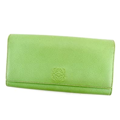 fd2963581023 (ロエベ) Loewe 長財布 財布 ファスナー付き グリーン ブラウン ゴールド アナグラム レディース メンズ 可