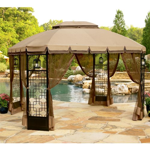 Garden Winds Replacement Canopy for Trellis Gazebo (Trellis Gazebo Replacement Canopy)