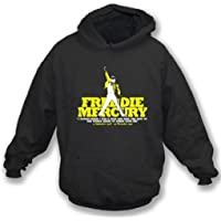 Freddie Mercury Tribute Hooded Sweatshirt, negro del color